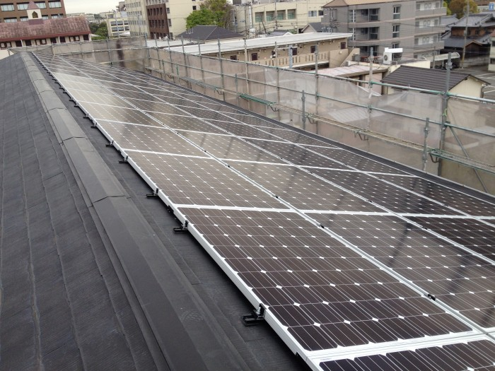 太陽光設置工事(伊川谷 マンション屋上)