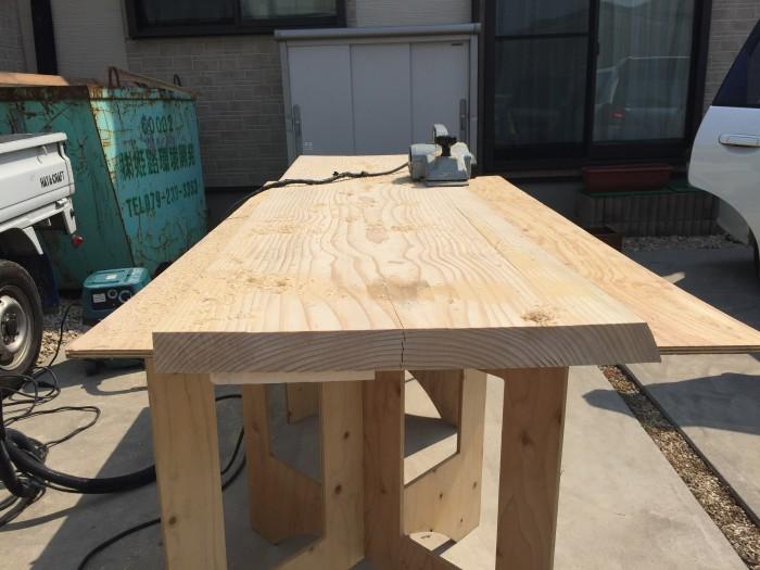 カウンターテーブル製作