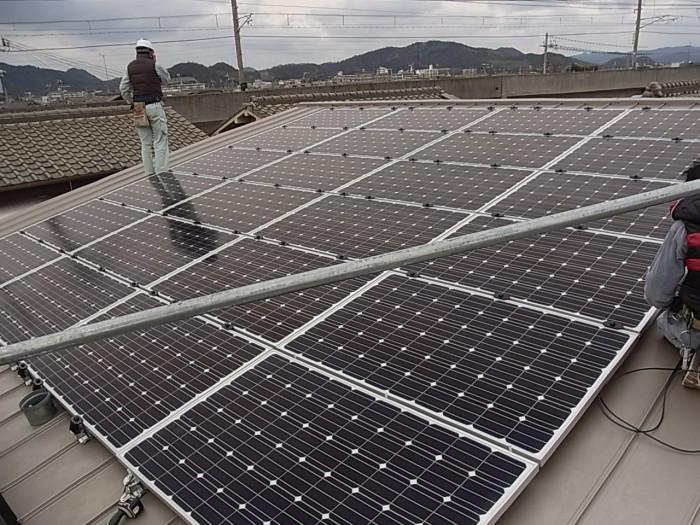 太陽光設置工事(姫路市 住宅屋根)