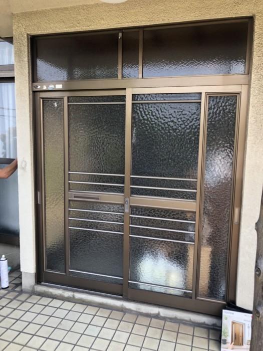姫路市 玄関サッシ取替え工事